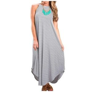 Women's Summer Casual Stripe Sleeveless Loose